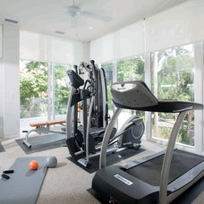 Modern Home Gym by Phil Kean Design Group