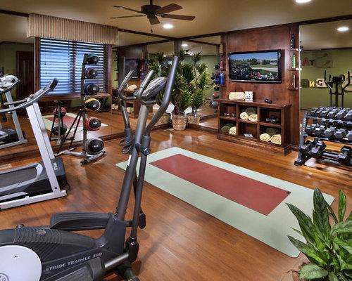 Fitnessraum gestalten  Mediterraner Fitnessraum in Denver - Ideen für Ihr Home-Gym | HOUZZ