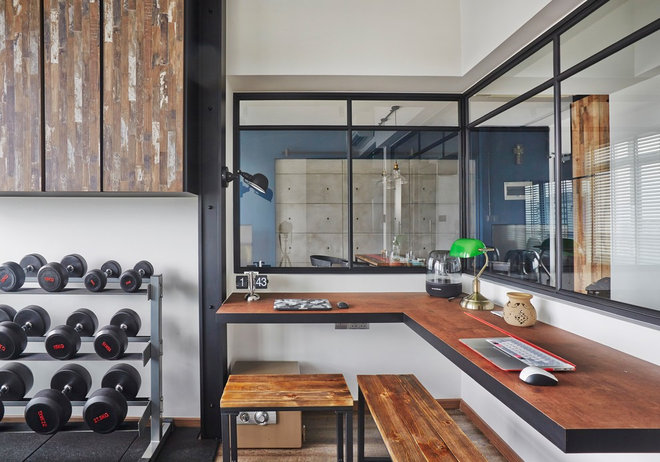 Industrial Home Gym by Fuse Concept Pte Ltd