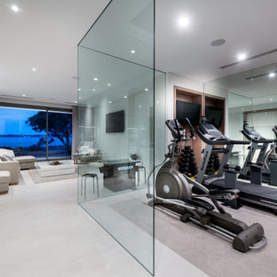 Inspiration for a contemporary home gym in Perth.