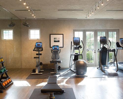 Rustic home gym design ideas renovations photos