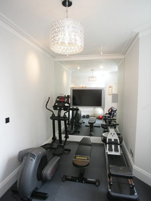 Small Traditional Home Gym Design Ideas Pictures Remodel Decor