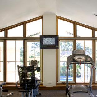 Most popular australia carpeted home gym design ideas for