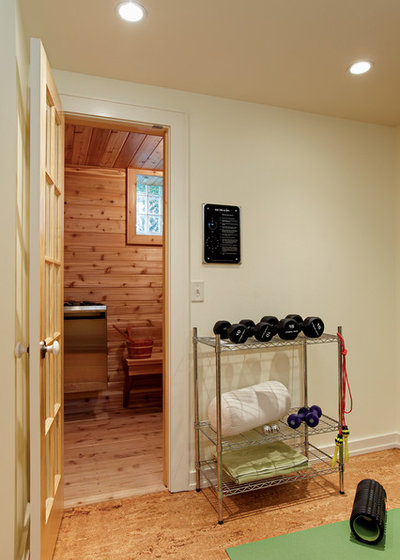 Contemporary Home Gym by Refined Renovations