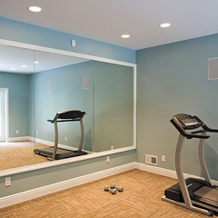 traditional home gym by Copper Leaf Interior Design Studio