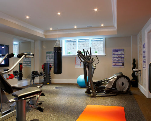 Basement exercise room home design ideas pictures
