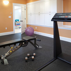 traditional home gym by Byggmeister Inc