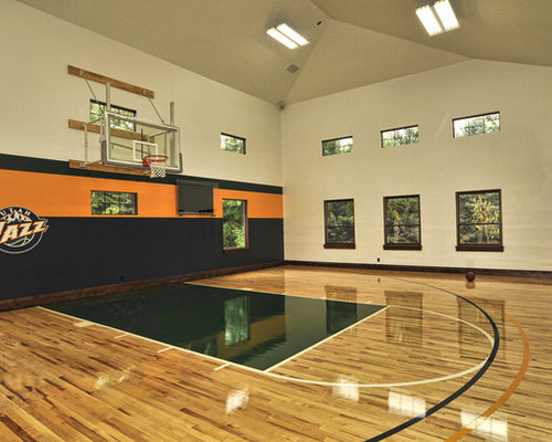 Best dimensions home gym design ideas remodel pictures for Basketball gym dimensions