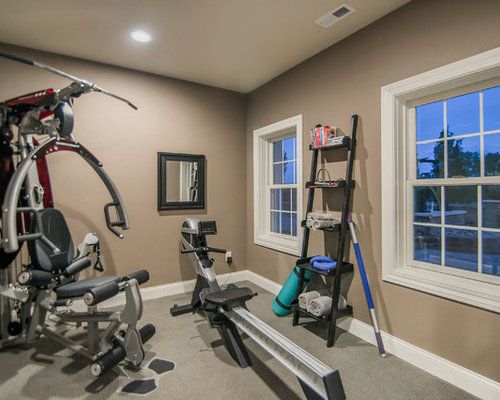 klassische fitnessr ume einrichten in kolumbus home gym heim fitnessstudio houzz. Black Bedroom Furniture Sets. Home Design Ideas