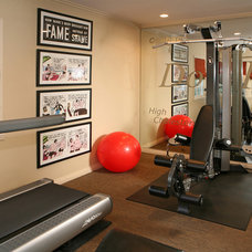Transitional Home Gym by Cynthia Bennett & Associates