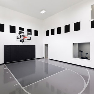 Home gym - transitional home gym idea in Minneapolis
