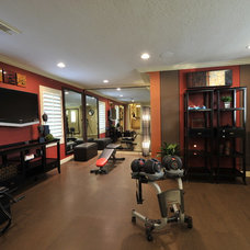 Transitional Home Gym by The Design Firm