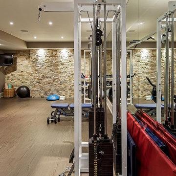 Transitional Toronto Home - Gym