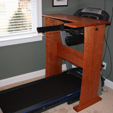 Contemporary Home Gym by What Wood You Like