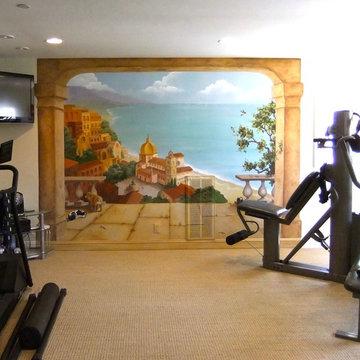Tuscan Home Gym Mural