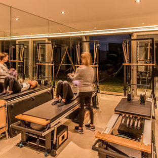Inspiration for a modern home gym remodel in Other