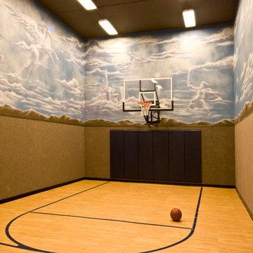 Under Garage Basketball Court