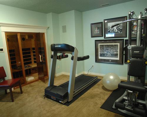 Small home gym design ideas renovations photos