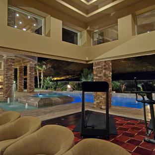 Home gym - mediterranean home gym idea in Las Vegas