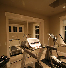 home gym by dC Fine Homes & Interiors