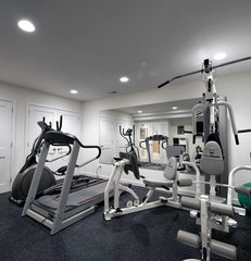 modern home gym by Moss Building and Design