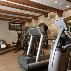 Mediterranean Home Gym by Vivid Interior Design - Danielle Loven