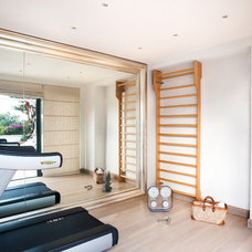 Contemporary Home Gym by Fabrizia Frezza Architecture & Interiors