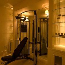 Contemporary Home Gym by dC Fine Homes & Interiors