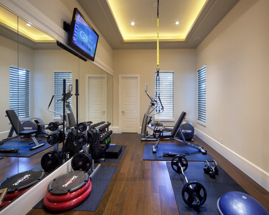 traditional home gym design ideas, pictures, remodel & decor