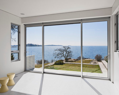 Black aluminum sliding windows houzz Window styles for contemporary homes