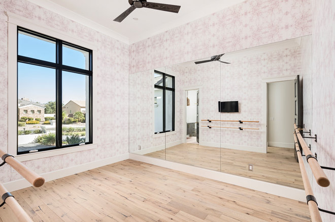 Transitional Home Gym by Sierra Pacific Windows