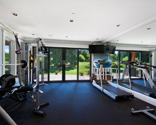 500 square feet gym ideas photos ideas photos houzz. Black Bedroom Furniture Sets. Home Design Ideas