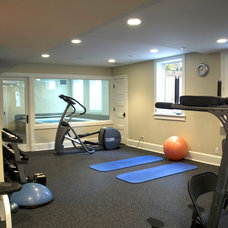 Traditional Home Gym by Vujovich Design Build, Inc.