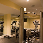 Yarrow Point Water Front Home Contemporary Home Gym