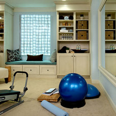 Contemporary Home Gym by Whittington Design Studio