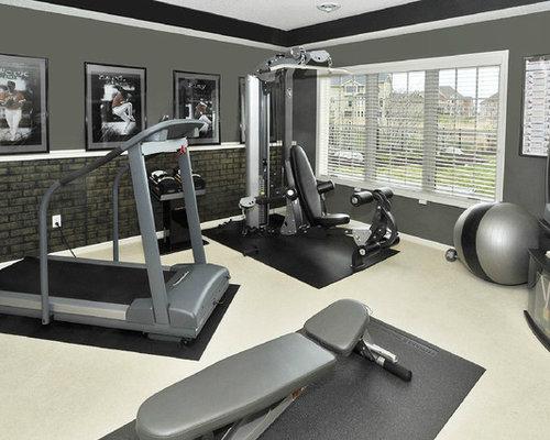 fitnessraum ideen f r ihr home gym houzz. Black Bedroom Furniture Sets. Home Design Ideas