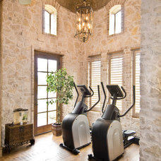 Traditional Home Gym by Tatum Building Corp