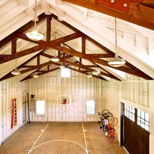 Home gym - farmhouse home gym idea in San Francisco