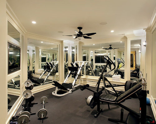 Weight room home design ideas pictures remodel and decor for Gym room design