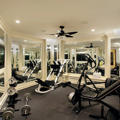 contemporary home gym by COOK ARCHITECTURAL Design Studio