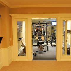 traditional home gym by Plan-2-Finish, Inc.