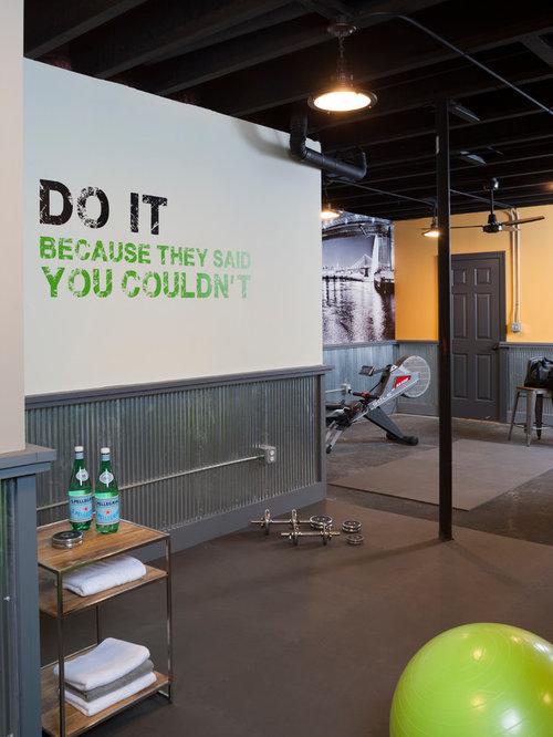 Ideas para gimnasios dise os de gimnasios con paredes - Gimnasio paredes ...