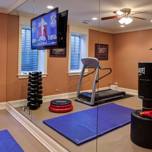 75 eclectic home gym design ideas  stylish eclectic home