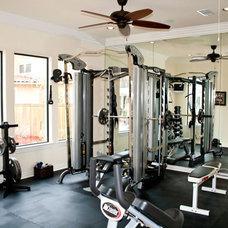 Contemporary Home Gym by Collinas Design & Construction