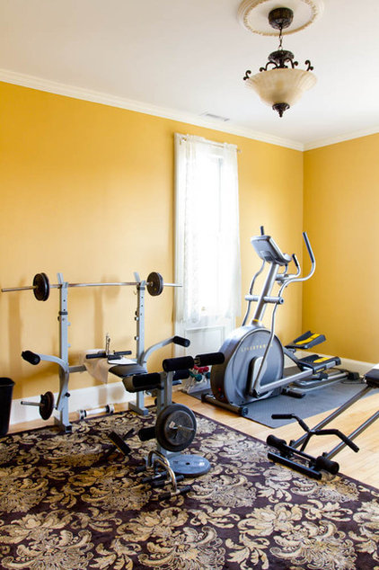 traditional home gym by Rikki Snyder