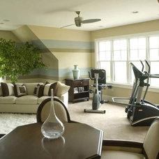 Contemporary Home Gym by Barbour Spangle Design Group