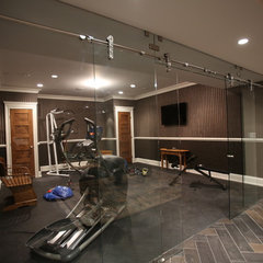 contemporary home gym by MFM Design & Construction llc