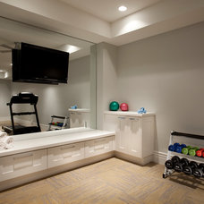 Transitional Home Gym by Jackson and LeRoy