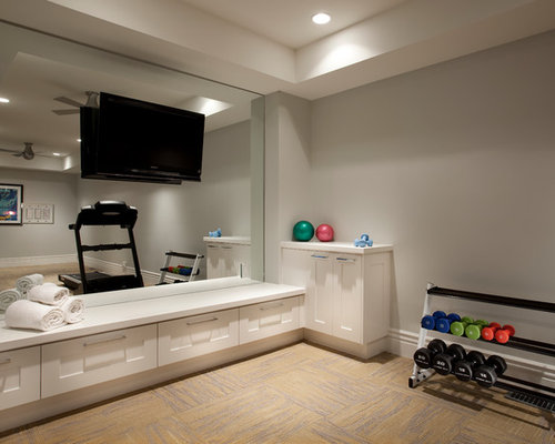 Home Weight Room   Mid Sized Transitional Home Weight Room Idea In Salt  Lake City