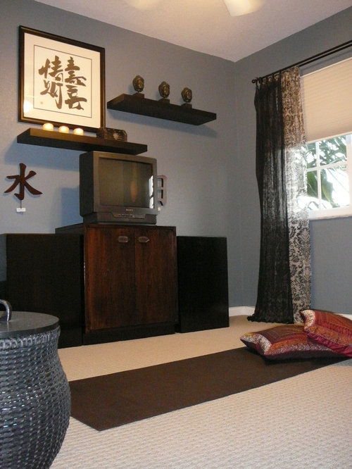Asian home gym design ideas pictures remodel decor for Yoga room design ideas